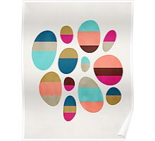 Color-Blocked Pebbles #1 Poster