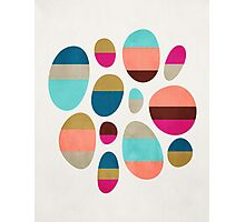 Color-Blocked Pebbles #1 Photographic Print