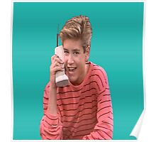 Zack Morris Saved By the Bell 90's Design Poster