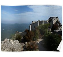 The Castle of Peyrepertuse Poster