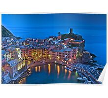 Light reflections in Vernazza  Poster