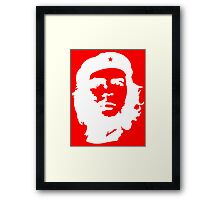 Che Guevara, Cuba, Peoples Revolution, Freedom, in white Framed Print