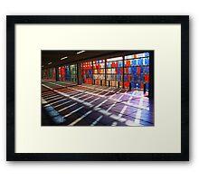 Coloured Shadows Framed Print
