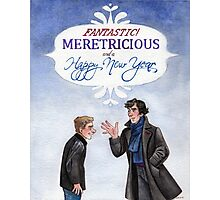 And a Happy New Year - BBC Sherlock Photographic Print