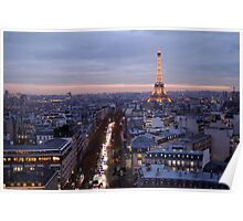 France - Paris 75007 - By night Poster