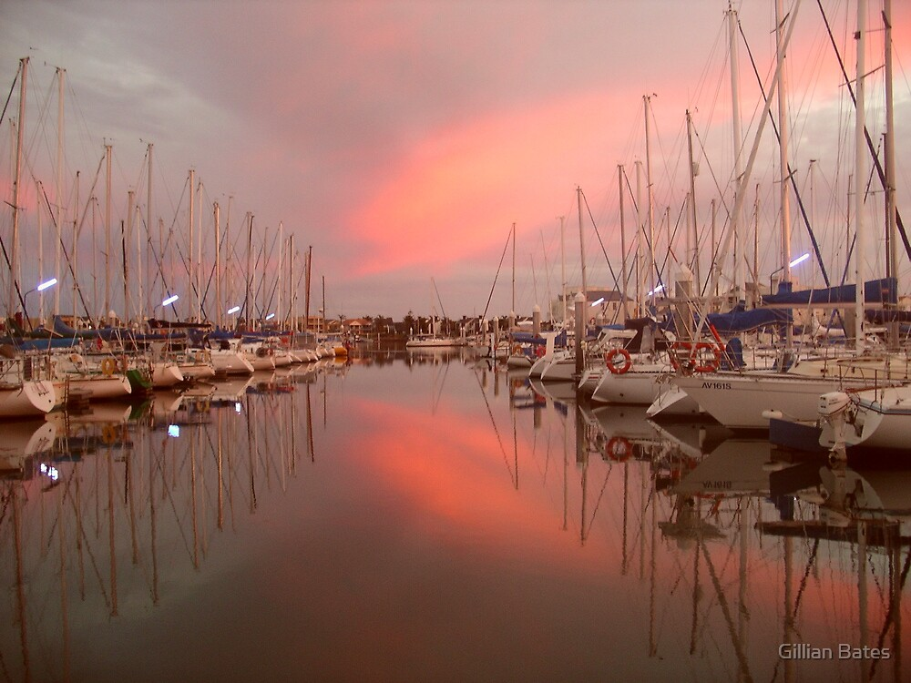 Sunrise at North Haven Marina, South Australia. by Gillian Bates