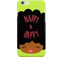 Happy Nappy Afro iPhone Case/Skin