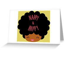 Happy Nappy Afro Greeting Card