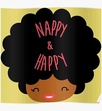 Happy Nappy Afro Poster