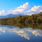 Mill Creek Lake In Fall by Ginny York