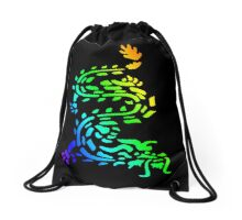 Oriental Dragon Colourful Design Drawstring Bag