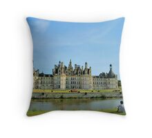 A View of Château de Chambord Throw Pillow