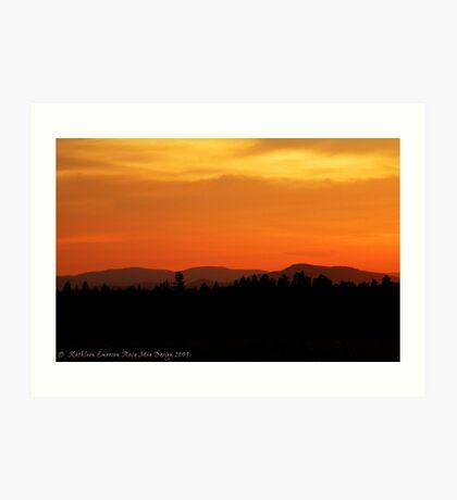 Valley Sunset Art Print