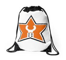 Customize My Minifig Star Logo Design Drawstring Bag