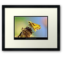 Ove the hilltop Framed Print