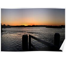 Tweed River Sunset Poster