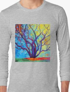 Bright Purple Tree Long Sleeve T-Shirt