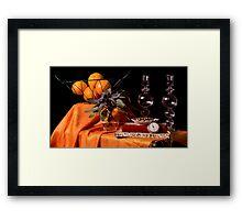 Sage, Pepper Corns & Oranges Framed Print
