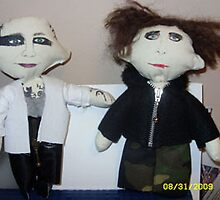 Porl Thompson & Robert Smith of The Cure handmade plush dolls by PerfectBlueSky