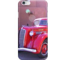 Red Oldtimer Truck iPhone Case/Skin