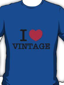 I Love Vintage. T-Shirt