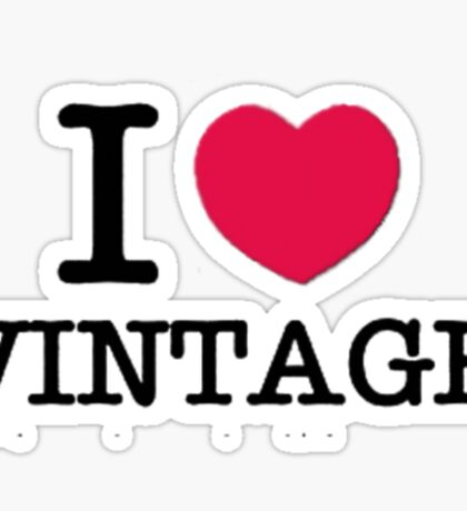 I Love Vintage. Sticker