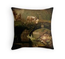 CHALLENGE - Billy Goats Gruff... Throw Pillow