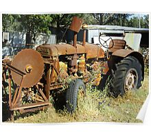OLIVER TRACTOR WITH SAW Poster