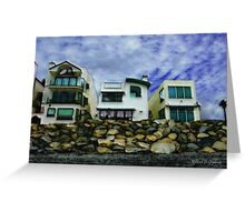Beach Houses - Or A View from the Beach Greeting Card