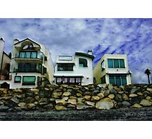 Beach Houses - Or A View from the Beach Photographic Print