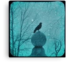 Blue Gothic Snow Globe Canvas Print