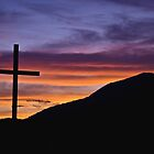 Cross At Sunset by kjerrellimages