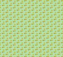 Primroses on Mint Green by DeneWest