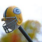 Green Bay Packer Helmet by Benjamin Sloma