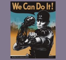 We Can Do It (Furiously) - light colors Kids Tee