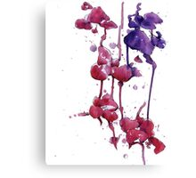 Dripping Orchids Canvas Print