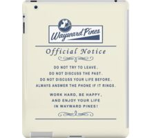 Wayward Pines - Official Notice City Rules iPad Case/Skin