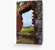 Lighthouse Ruins Greeting Card