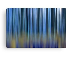 abstract blue forest  Canvas Print
