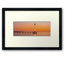 Brighton Beach, South Australia Framed Print