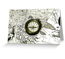 A Tale Of 2 Maps Greeting Card