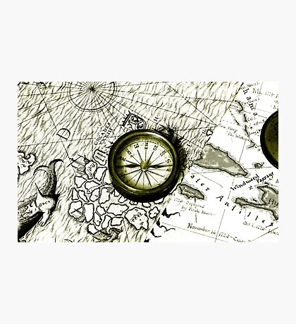 A Tale Of 2 Maps Photographic Print