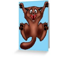 Scaredy Cat .. tee shirt Greeting Card