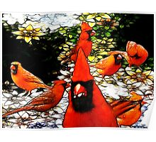 The Tiffany Glass Cardinals Poster