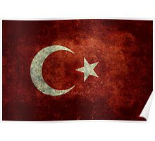 The National flag of Turkey - Vintage version Poster
