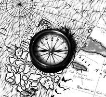 A Tale of 2 maps - B/W by Mark Batten-O'Donohoe
