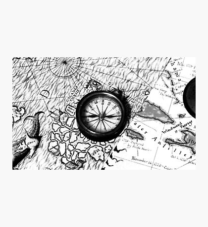 A Tale of 2 maps - B/W Photographic Print