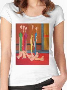 Feet Women's Fitted Scoop T-Shirt
