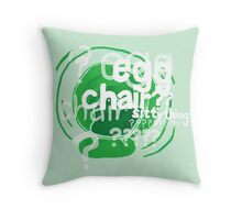 Sitty Thing Throw Pillow