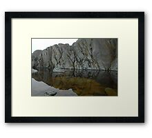 Textures and refections Framed Print